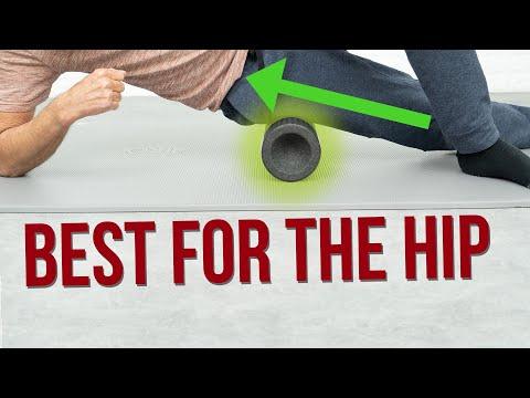 Foam rolling massage to release hip pain (hip arthritis)