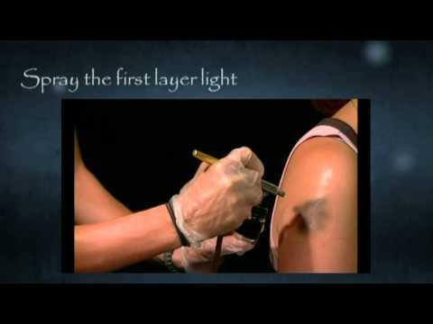 Long lasting temporary airbrush tattoo ink tutorial