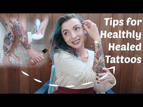 Tips for healthy healed tattoos! tattoo talk tuesday.