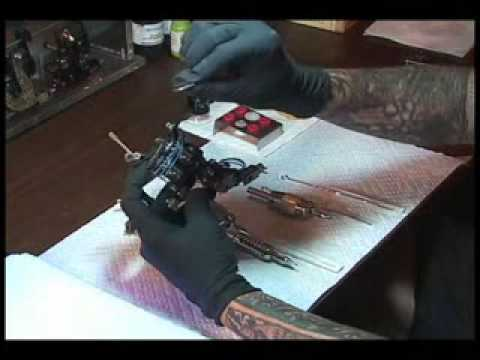 Setting up a lining tattoo machine - liner machine