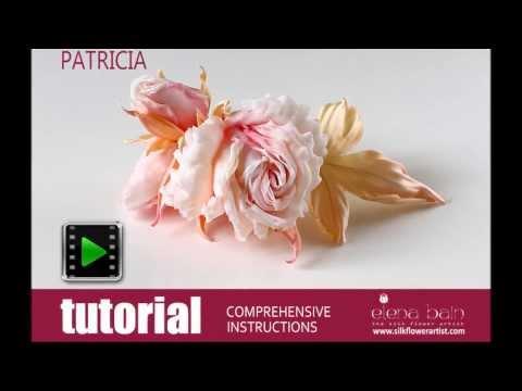 How no make silk flowers - video tutorial silk rose patricia
