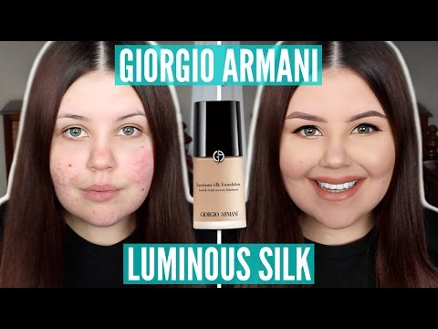 First impressions | giorgio armani luminous silk foundation (acne scarring/dry skin)