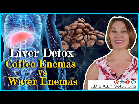 Liver detox coffee enemas vs water enemas