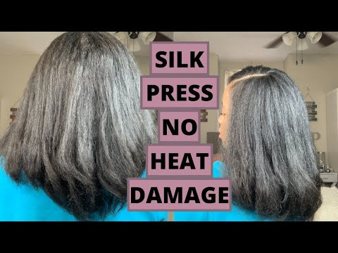 Silk press no heat damage   silk press on natural hair 2020