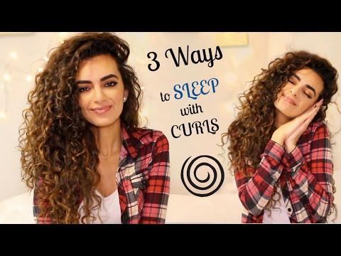 3 ways to sleep with long curly hair!