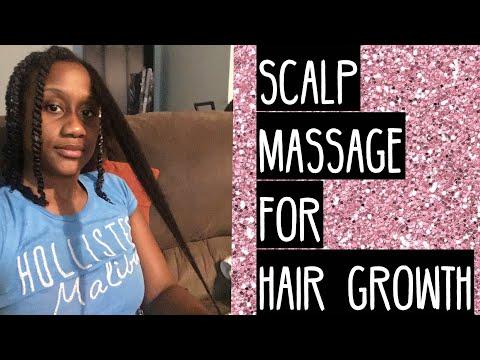 Natural hair   scalp massage for hair growth