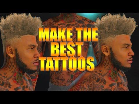 Nba 2k16 tips/tricks - full arm sleeve tattoo tutorial | how to make the best tattoos