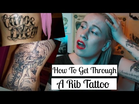 How to get through a rib tattoo.