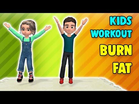 20 min daily kids exercise: burn fat, burn calories, be active