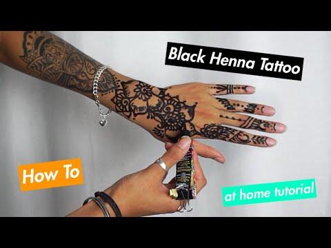 How to do henna at home   black henna tattoo