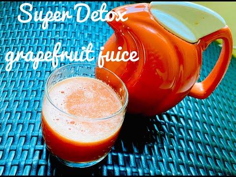 How to make fresh grapefruit juice/benefits of grapefruit juice.-super detox juice for ur body