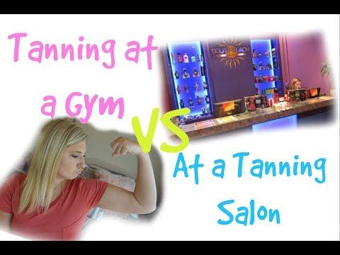 Tanning at a gym vs at a tanning salon!