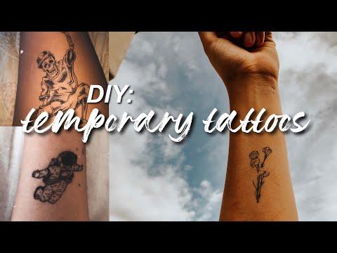 Diy: temporary tattoos using printer paper and ink!