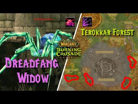 Dreadfang venom sac / netherweb spider silk farming, terokkar forest