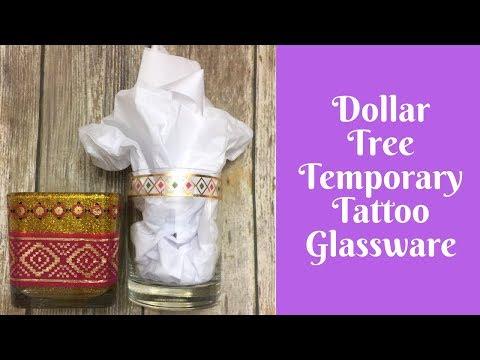 Everyday crafting: dollar tree temporary tattoo glassware