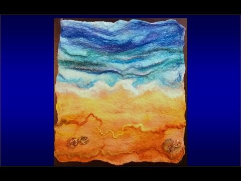 How to make a wool felt picture: beach sea (aannsha jones creates)