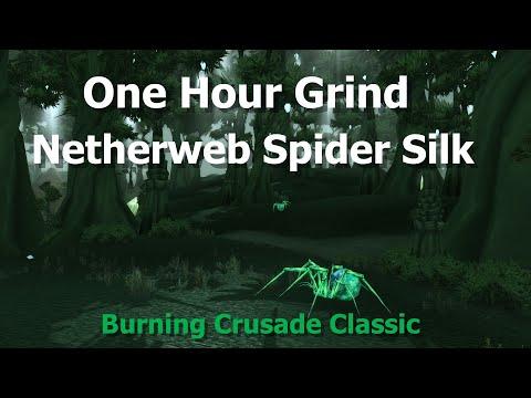 One hour grind--netherweb spider silk--gold farming 50-80 --wow tbc classic