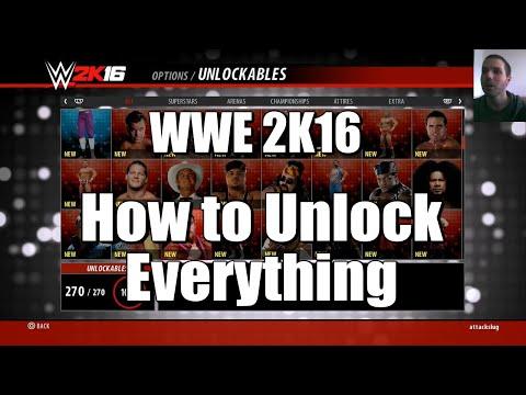 Wwe 2k16 - how to unlock everything (tutorial)