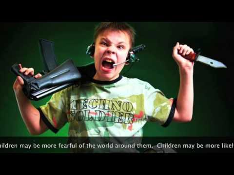 How does violence in tv shows affect children's behavior?