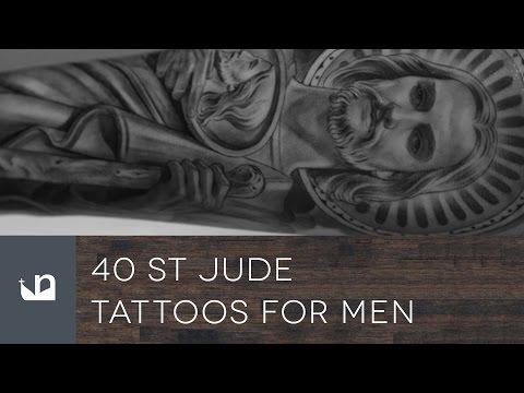40 st jude tattoos for men