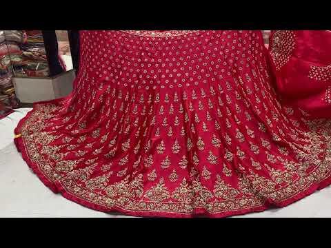 Buy silk pink bridal lehenga online | keshav creations | best lehenga shop in delhi | free shipping