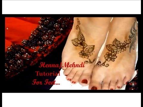 Easy henna tutorial for your feet!