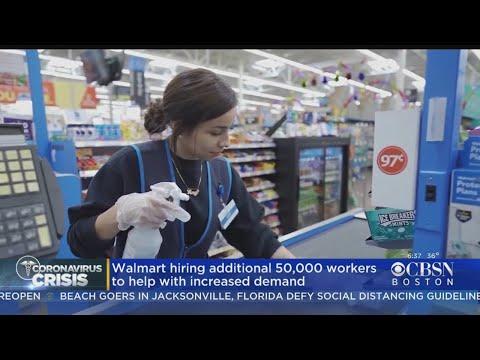 Walmart hiring 50,000 people to meet coronavirus demand