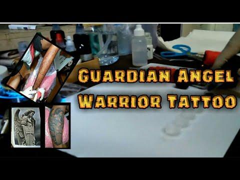 Guardian angel warrior tattoo