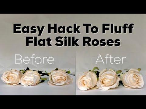 Diy hack fluffing flat silk roses