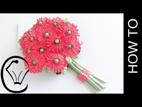 Pull-apart butercream gerbera daisy flower cupcake bouquet by cupcake savvy's kitchen