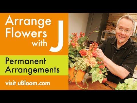How to create a silk flower arrangement in styrofoam