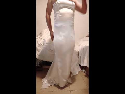 Long dress satín