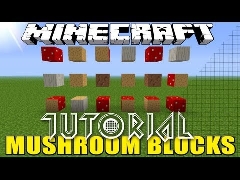 Minecraft mushroom blocks how to get tutorial