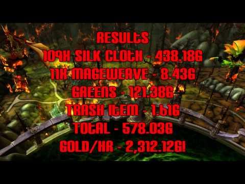 (2500 g/hr) best silk cloth farming location - 5.2 wow gold guide - dubisttot