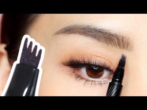 New microblading eyebrow tattoo pen - tina tries it
