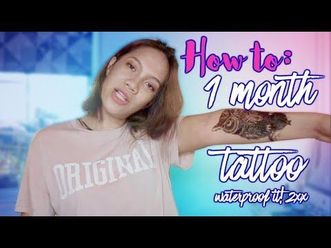 Make your temporary tattoo last longer! (2-4 weeks)