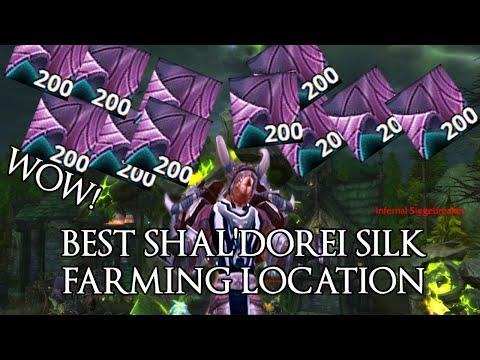 Best place to farm shal'dorei silk - world of warcraft: legion