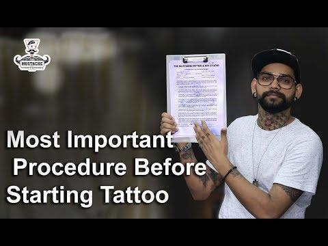 Most important procedure before starting tattoo   tattoo tutorial   part - 19