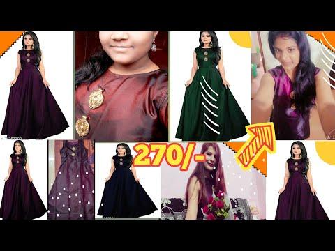 Meesho gowns haul under 270/-   women gowns dresses
