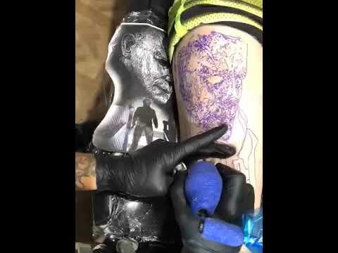 Michael myers tattoo time lapse by @adamkriewaldttattoo