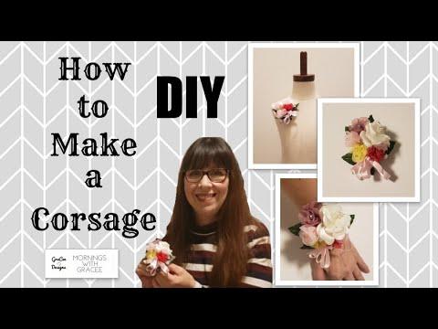 How to make a corsage   silk flower arrangement   diy corsage   bridal flowers   keepsake corsage