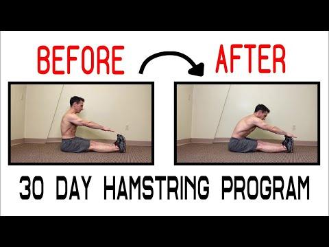 Hamstring flexibility program - increased flexibility in 30 days (reupload)