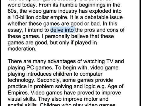 32. computer games good or bad