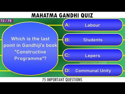 Mahatma gandhi quiz   75 frequently asked questions   gandhi jayanti quiz 2020   general knowledge