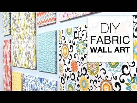 How to make fabric wall art - easy diy tutorial