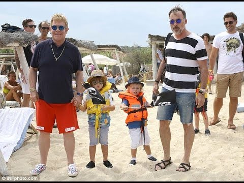 Elton john's husband and kids   beautiful moments