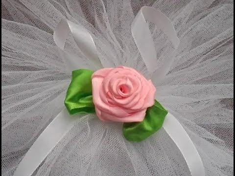 Diy ribbon rose, tutorial, how to make a silk rose?