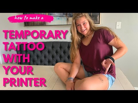 Diy temporary tattoo with a printer